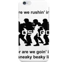 CSGO Sneaky Beaky Shirt (LOGO) iPhone Case/Skin