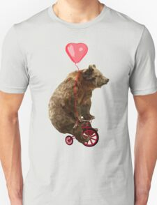 Big Bear with bicycle Unisex T-Shirt