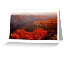 Grand Canyon Sunset From Hopi Point Greeting Card