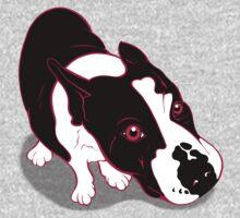 Mr Bull Terrier Pink One Piece - Short Sleeve