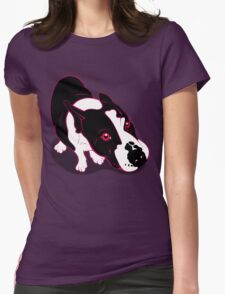 Mr Bull Terrier Pink Womens Fitted T-Shirt