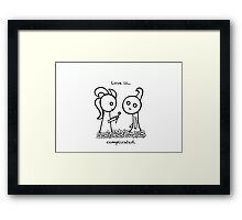 Love is complicated Framed Print
