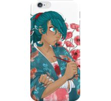Poppies and Koi - Anghel Higure iPhone Case/Skin