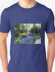 River of Blue - Flower Lane in the Keukenhof Gardens Unisex T-Shirt