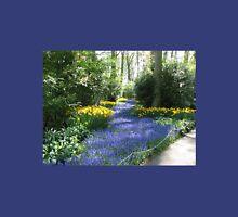 River of Blue - Flower Lane in the Keukenhof Gardens Womens Fitted T-Shirt