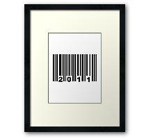 Barcode 2011 Framed Print