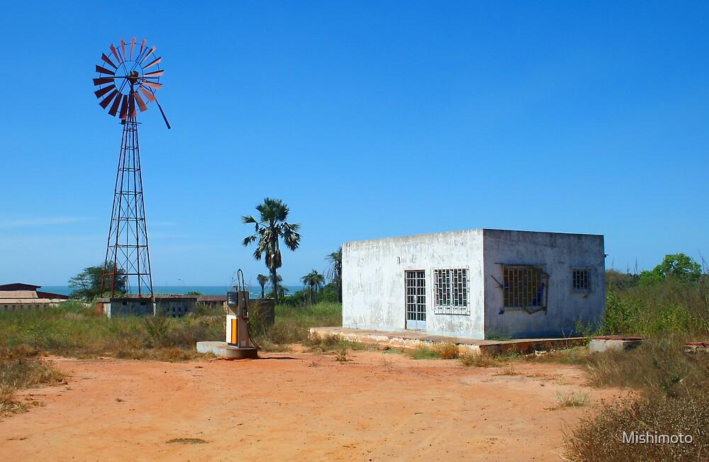 Abandonded petrol station, Gunjur Gambia by Mishimoto
