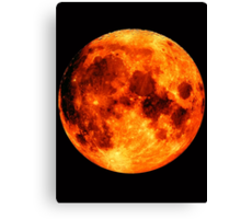 Moon Fire Eclipse Canvas Print