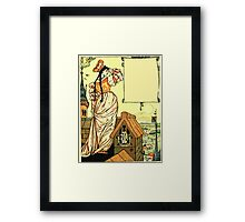 The Sleeping Beauty Picture Book Plate - Bluebeard - O Sister Anne, Go Up, Go Up, And Look Out From The Tower Framed Print