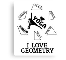 I Love Geometry Canvas Print