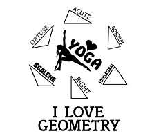 I Love Geometry Photographic Print