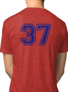 Number 37 Tri-blend T-Shirt