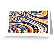 Color and Form Abstract - Curved Rounded Lines Flowing  Greeting Card