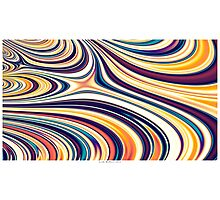 Color and Form Abstract - Curved Rounded Lines Flowing  Photographic Print