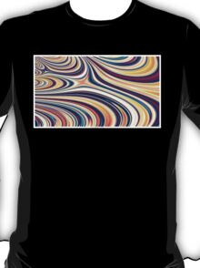 Color and Form Abstract - Curved Rounded Lines Flowing  T-Shirt