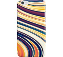 Color and Form Abstract - Curved Rounded Lines Flowing  iPhone Case/Skin