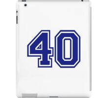 Number 40 iPad Case/Skin