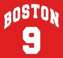 Jack Eichel - BU #9 - red jersey Kids Tee