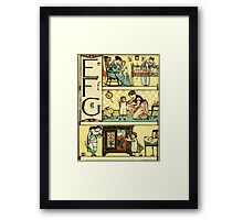 The Sleeping Beauty Picture Book Plate - The Baby's Own Alphabet - Ee, Ff, Gg Framed Print