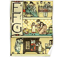 The Sleeping Beauty Picture Book Plate - The Baby's Own Alphabet - Ee, Ff, Gg Poster
