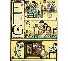 The Sleeping Beauty Picture Book Plate - The Baby's Own Alphabet - Ee, Ff, Gg Photographic Print