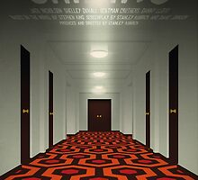 The Shining alternative movie poster by kinographics