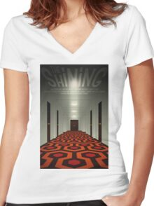 The Shining alternative movie poster Women's Fitted V-Neck T-Shirt