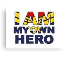 My Own Hero Captain Marvel Canvas Print
