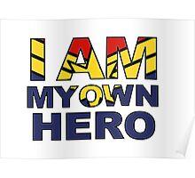 My Own Hero Captain Marvel Poster