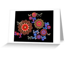 Fluttering Gold Greeting Card