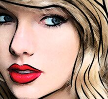 Taylor Swift Black Sticker