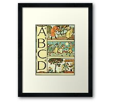 The Sleeping Beauty Picture Book Plate - The Baby's Own Alphabet - Aa Bb Cc Dd Framed Print