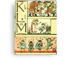 The Sleeping Beauty Picture Book Plate 010 - The Baby's Own Alphabet - Kk, Ll, Mm Canvas Print