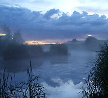 misty river by rickpeggi