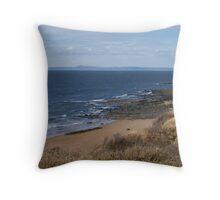 Gullane Beach Throw Pillow