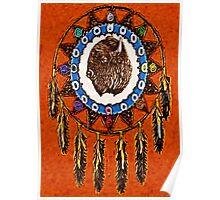 WhirlWind Buffalo Mandala Poster