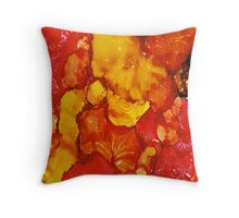 Fire Coral Throw Pillow
