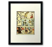 The Sleeping Beauty Picture Book Plate 011  - The Baby's Own Alphabet - Nn, Oo, Pp Framed Print