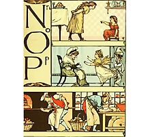 The Sleeping Beauty Picture Book Plate 011  - The Baby's Own Alphabet - Nn, Oo, Pp Photographic Print