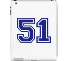 Number 51 iPad Case/Skin