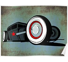 Rat Rod Blue Poster