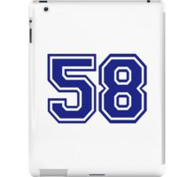 Number 58 iPad Case/Skin