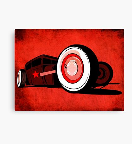 Rat Rod Red Canvas Print
