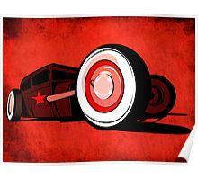 Rat Rod Red Poster