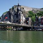Dinant Cathedral and Citadel, Belgium by bubblemonkey