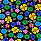 Multicolor Flowers Pattern by lacitrouille