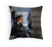 Parisian woman Throw Pillow