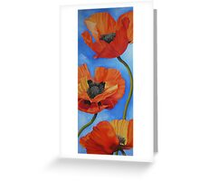 Sky full of Poppies Greeting Card