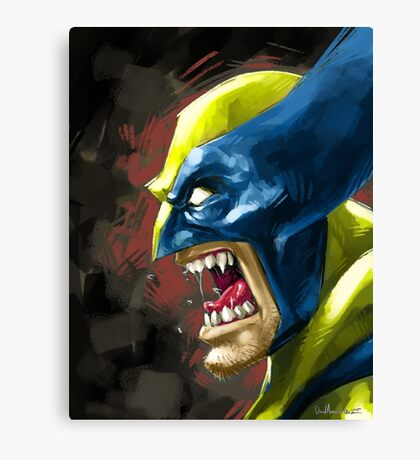 Painted Wolverine Canvas Print
