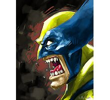 Painted Wolverine Photographic Print